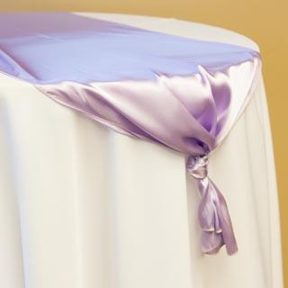 Lavender Satin Runner