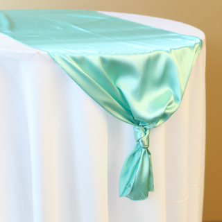 Tiffany Blue Satin Runner