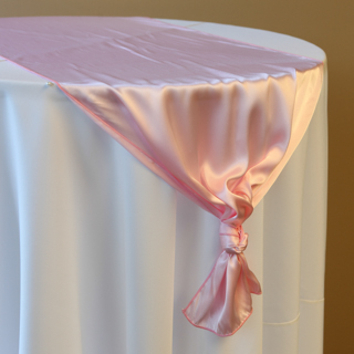 Light Pink Satin Runner