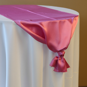 Hot Pink Satin Runner