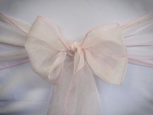 Light Pink Organza Sash
