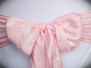 Light Pink Crushed Sash