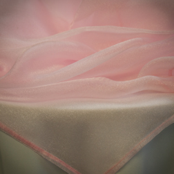 Light Pink Sparkle Organza