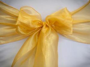 Yellow Gold Organza Sash