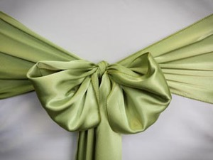 Green Apple Satin Sash