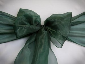 Hunter Green Organza Sash