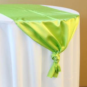 Lime Green Satin Runner