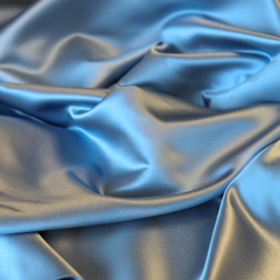 Cornflower Blue Satin Topper