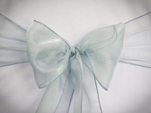 Light Blue Organza Sash