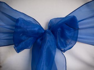 Royal Blue Organza Sash