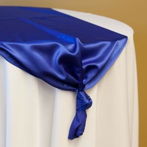 Royal Blue Satin Runner