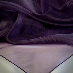 Dark Purple Organza Topper