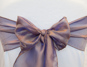 Purple Peach Organza Sash