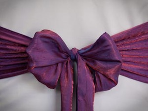 Purple Crushed Sash