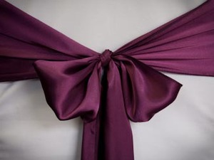 Purple Plum Satin Sash