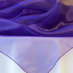Purple Organza Topper