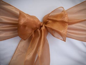 Light Copper Organza Sash