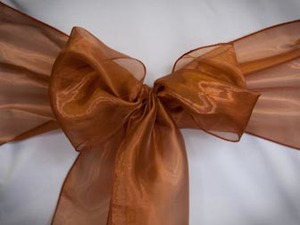 Dark Copper Organza Sash