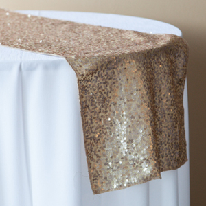 Gold Champagne Sequin Runner