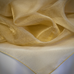 Gold Sparkle Organza Topper