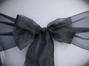 Charcoal Organza Sash