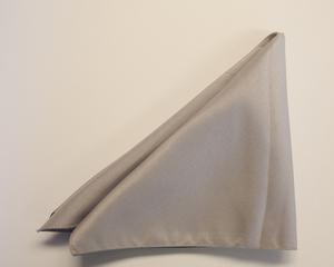 Silver Poly Napkin