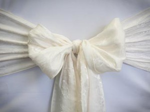 Ivory Crushed Sash