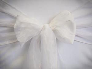White Organza Sash