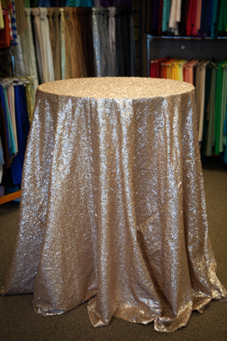 "Champagne Gold Sequin 120"" Round"