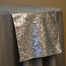 New! Silver Sequin Runner