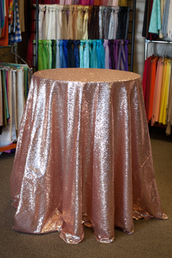 "Blush Sequin 120"" Round"