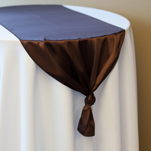 Chocolate Satin Runner