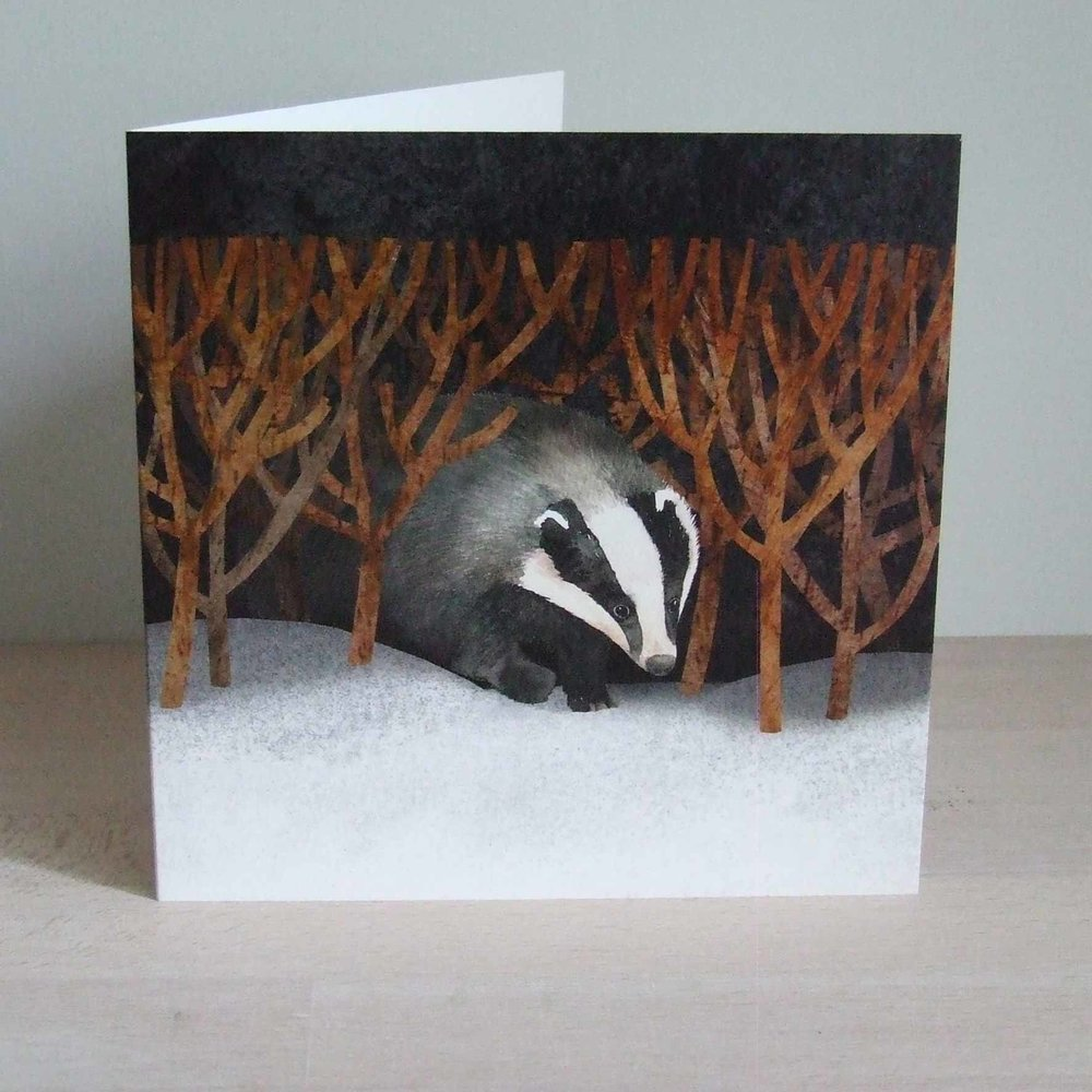 Winter Badger © Francesca Chalk