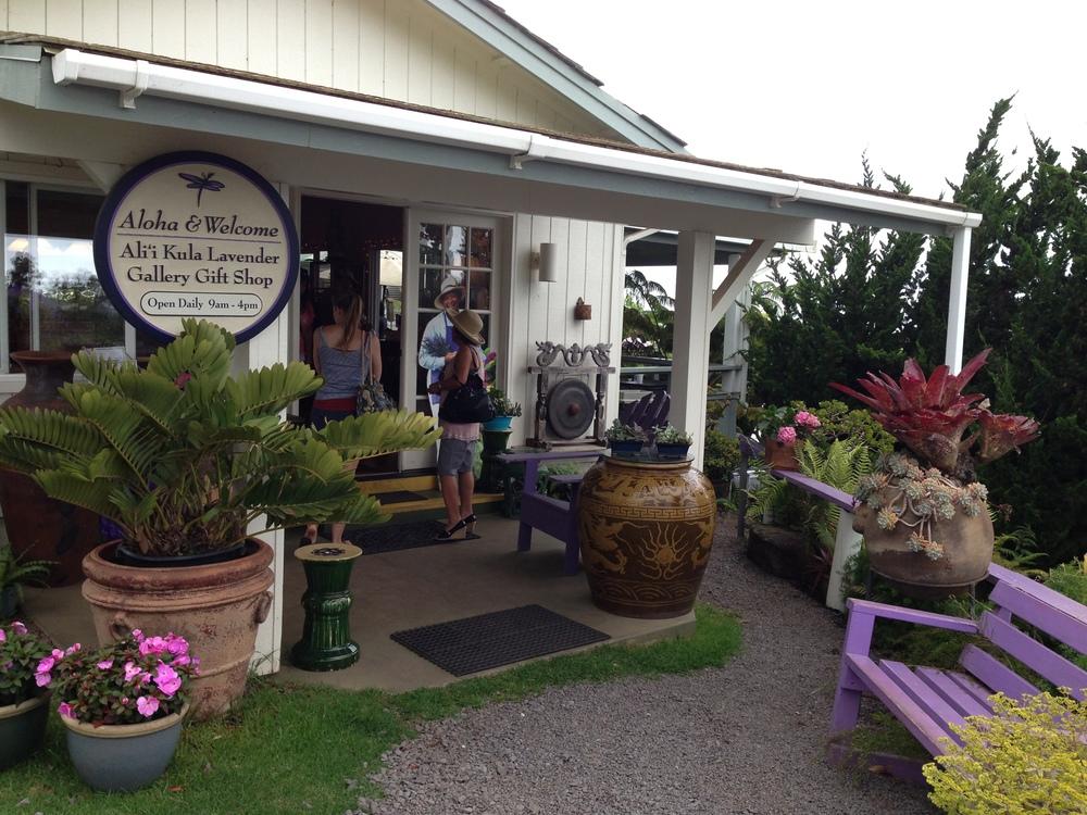 Gift Shop at Ali'i Kula Lavender Farm