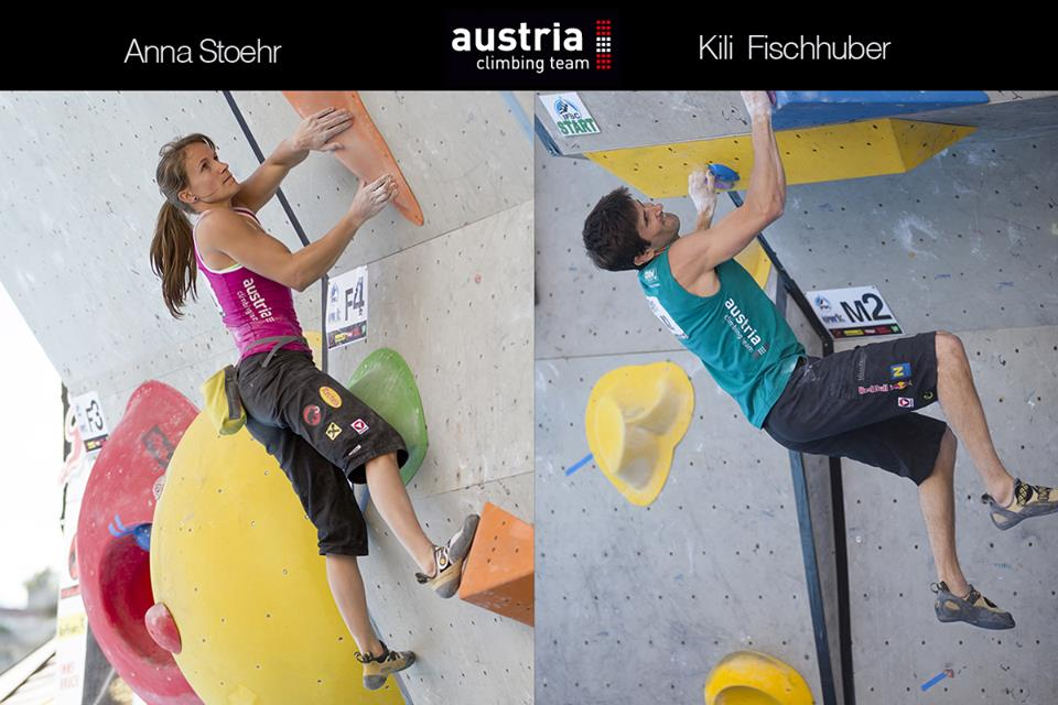 kilian and me in the final round! pic: holzknecht