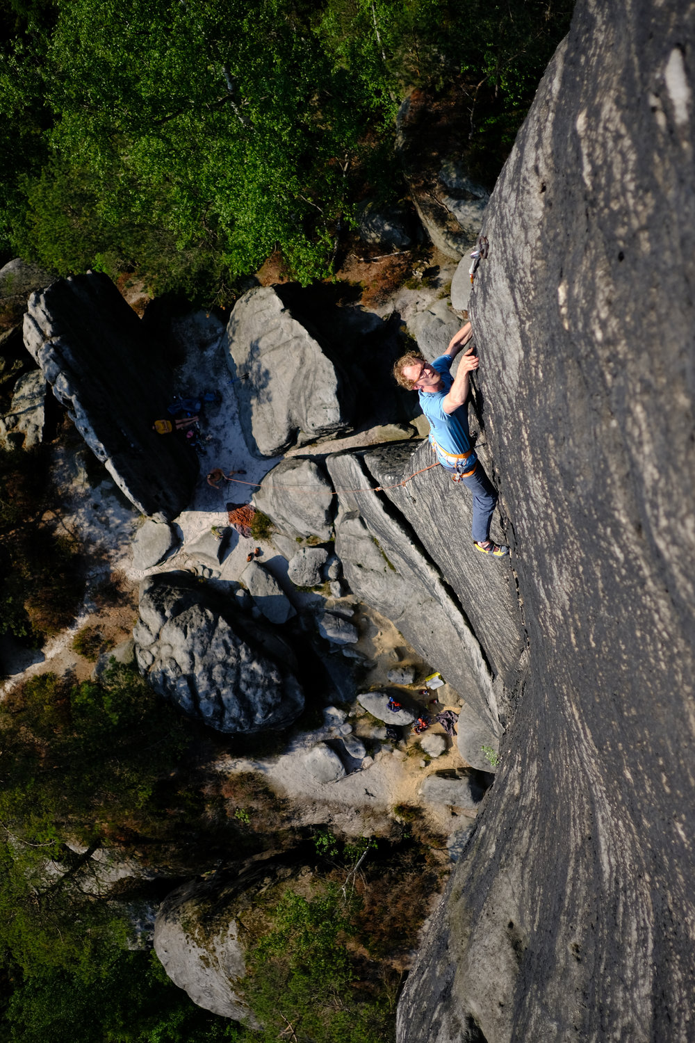 local legend robert leistner climbing in elbsandtsein pic: lepesant