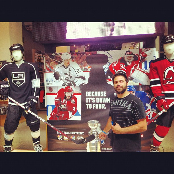 First time I've ever been to this store where the Kings have more than one shirt stashed in a corner. #lakings (Taken with  Instagram  at NHL Store Powered by Reebok)