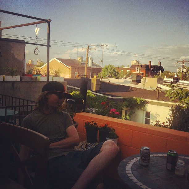 On Casey's Porch (Taken with  Instagram  at 1507 Passyunk)