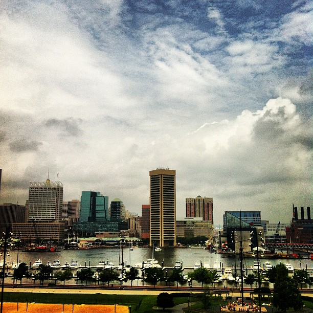 View of Baltimore from Federal Hill (Taken with  Instagram  at Federal Hill Park)