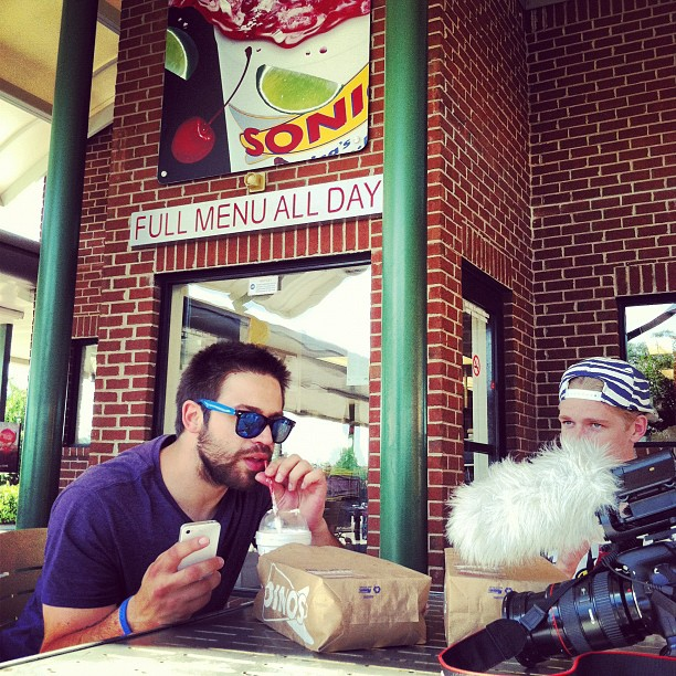 Fine dining outside #nashville (Taken with  Instagram  at Sonic)