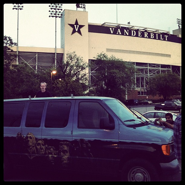 The #swagginwagon @ Vanderbilt (Taken with  Instagram  at Vanderbilt Stadium)