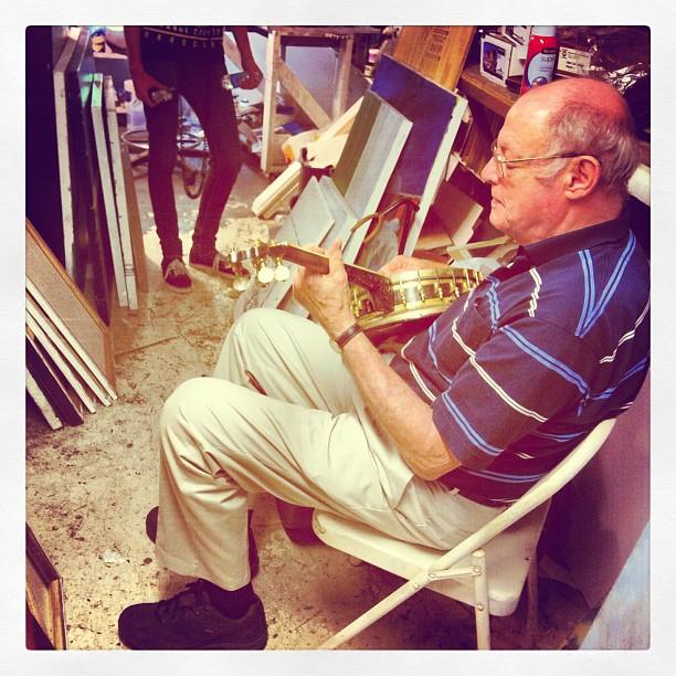 Robert Seago & his banjo. #amarvelousera  (Taken with  instagram )