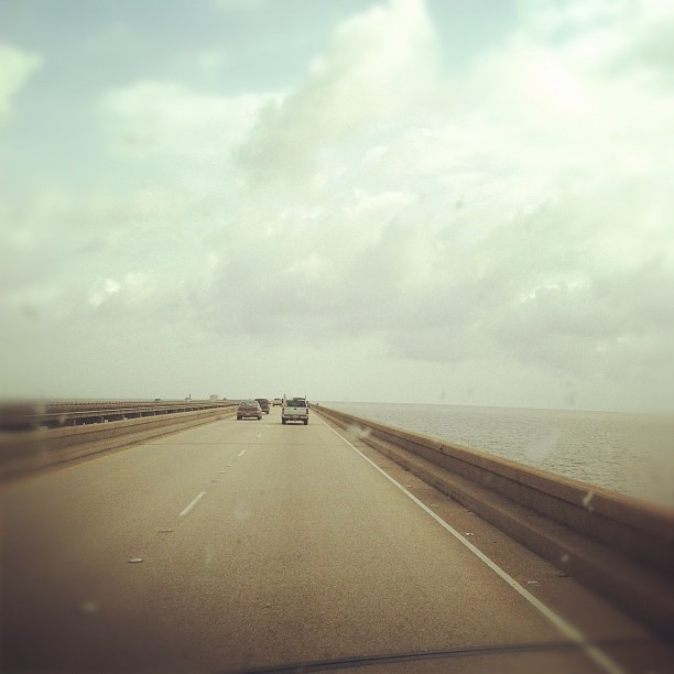 Bridge over troubled water #nola #amarvelousera  (Taken with  Instagram  at The Never Ending Bridge (aka Causeway))