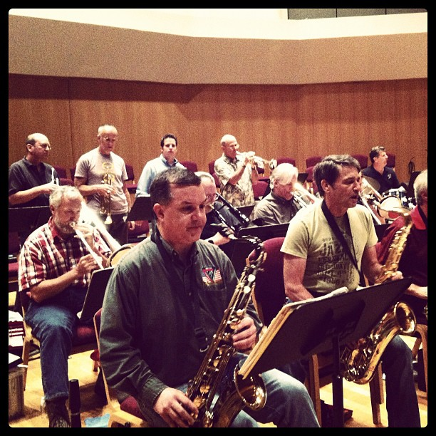 Brass, Rhythm & Reeds Big Band. (Taken with instagram)