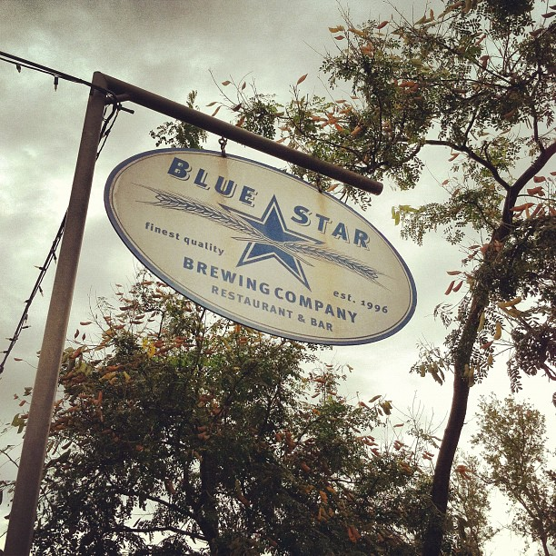 Our location for tonight (Taken with Instagram at Blue Star Brewing Company)