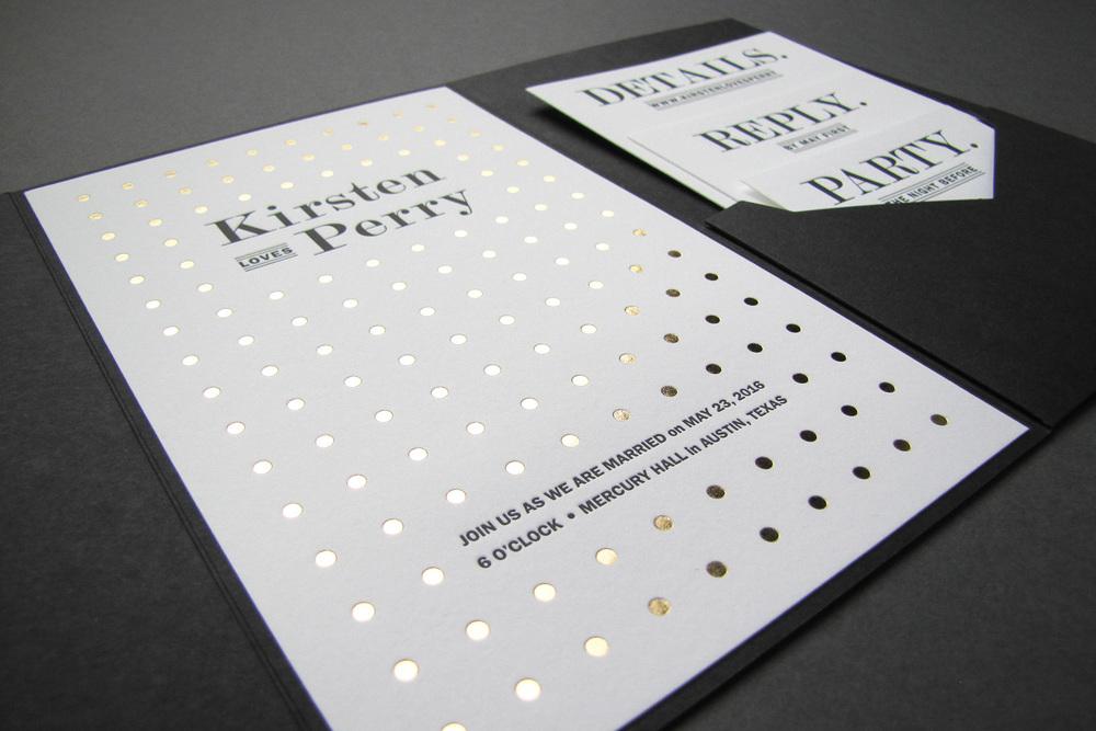 Kirsten gold foil details!