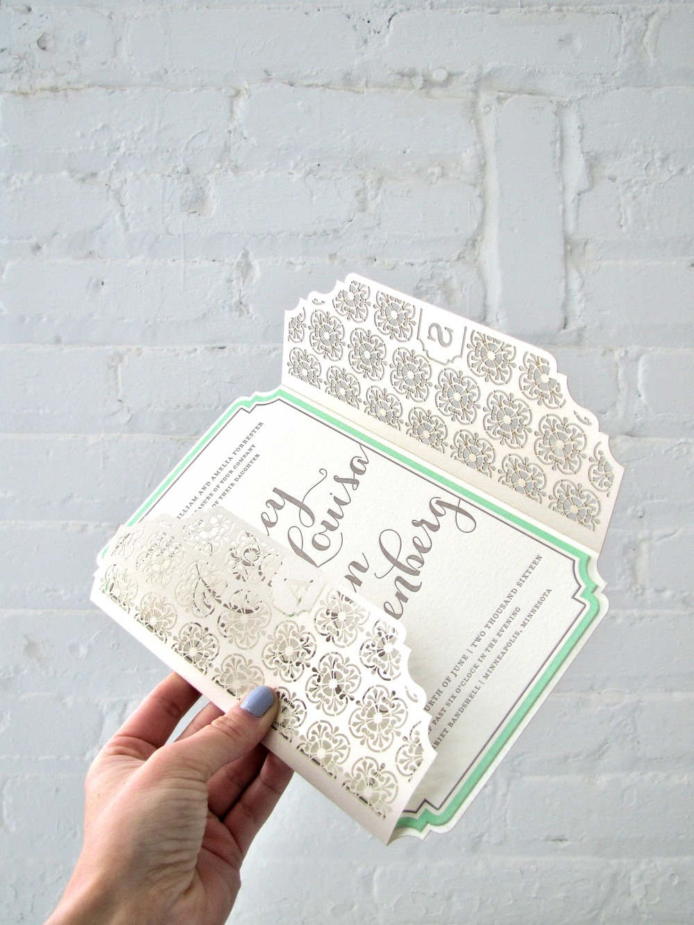 The Aubrey suite features our prettiest monogrammed laser wrap yet!