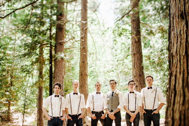 Bow ties and suspenders. Love forest inspired everything. Photo Credit: Tyler Branch.