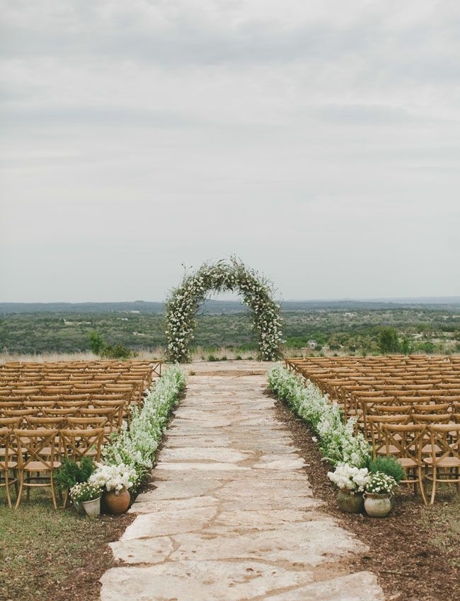 What an incredible ceremony backdrop. Simple, and perfect. Photo Credit: The Nichols.