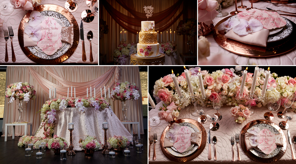 evolution-milwaukee-photographer-weddingplanner-photo-cake-candles-light-plates-table-wedding-decoration